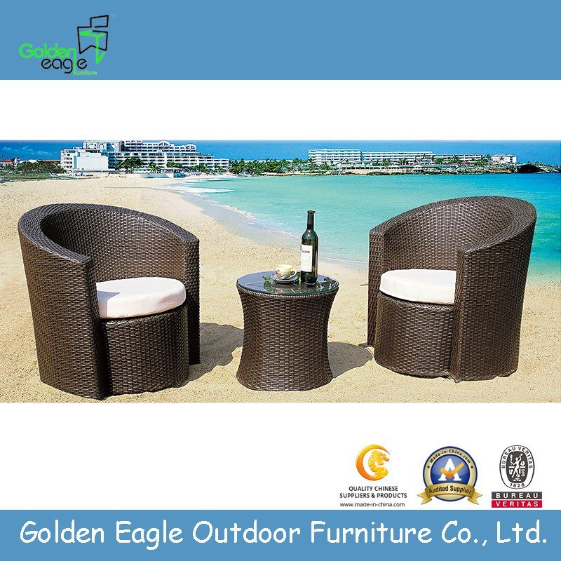 Hot Item Modern Outdoor Round Shape Rattan Sofa Set With Soft Cushions