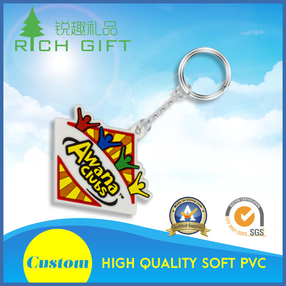 Promotional Custom Fashion 3D Soft PVC Rubber Keychain for Advertising Souvenir Gifts pictures & photos
