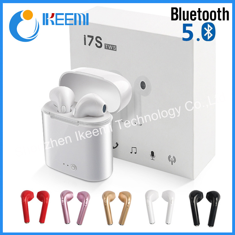[Hot Item] I7s Tws 5 0 Wireless Bluetooth Headphone I7s with Charging Box  Earphone Earbuds