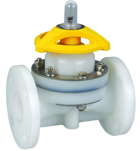 1 2 8 PVDF Diaphragm Valve For Chemical Industry