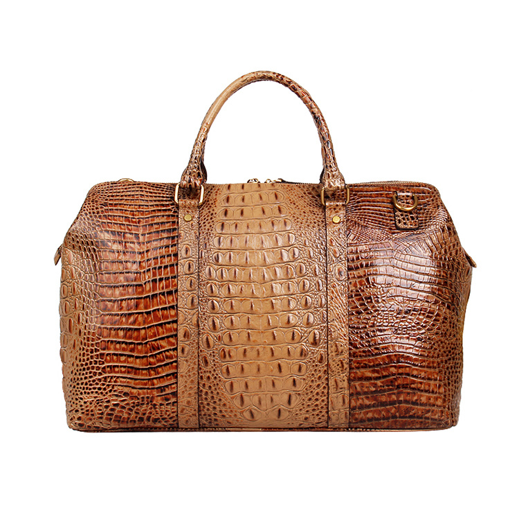 33947731b449 Luxury Customized Design Croc Print Leather Weekend Bag for Travelling
