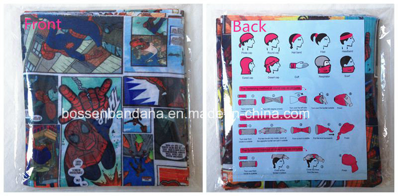 China Factory Supplier Customized Logo Cartoon Printed Polyester Magic UV Protection Necktubes Bandana pictures & photos