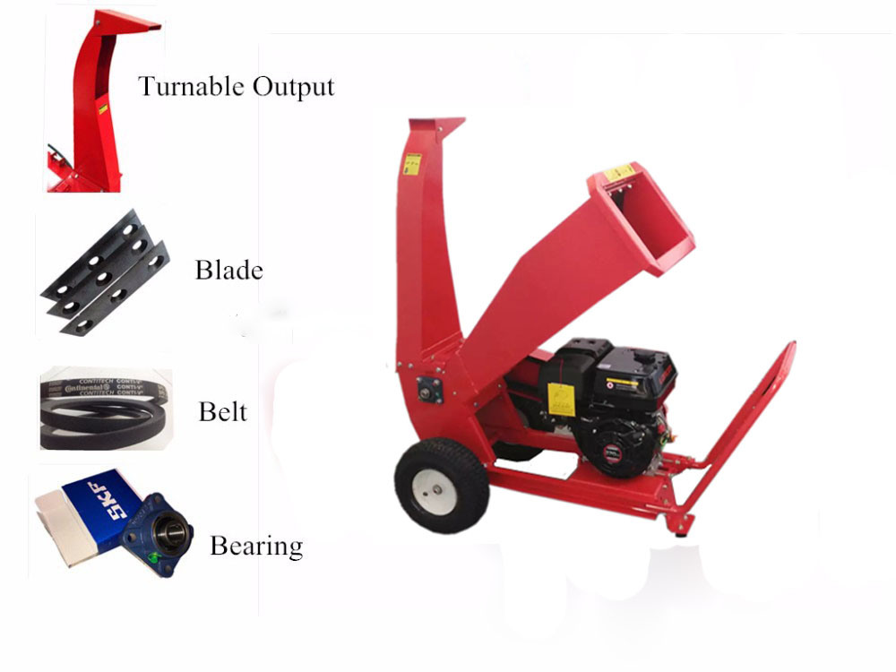 China 13HP Petrol/Gasoline High Efficiency Disk Wood Chipper for ...