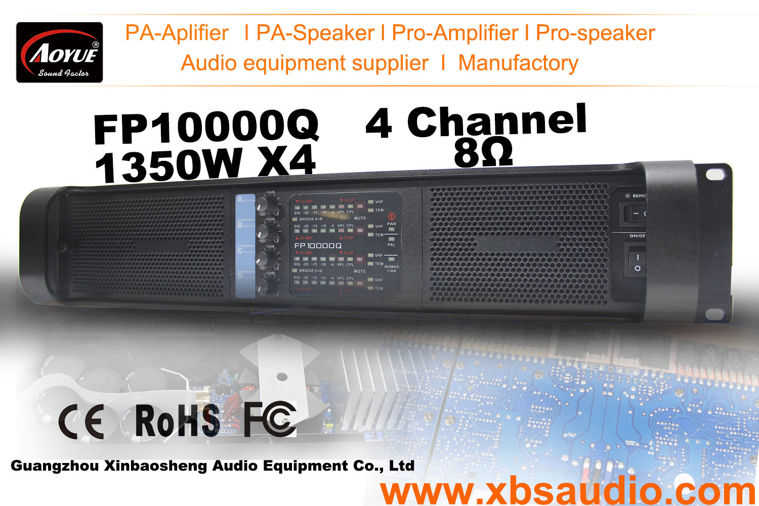 China Class Td Power Amplifier Fp10000q 4 Channel 2700w Four Audio
