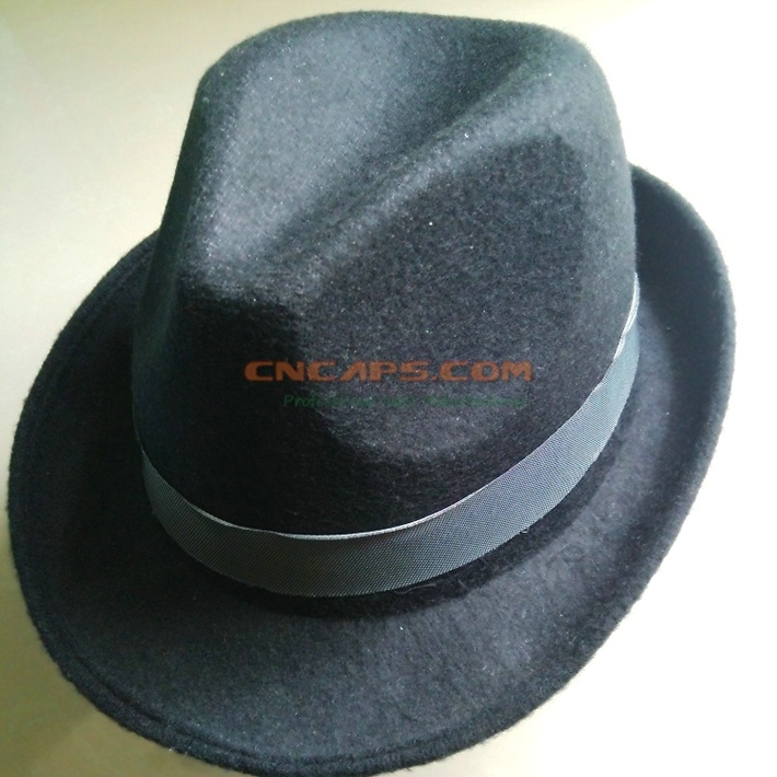 7404d1f0 China Custom Brand Felt Fedora Hat with Sweatband - China Felt Fedora Hat,  Fedora Hat