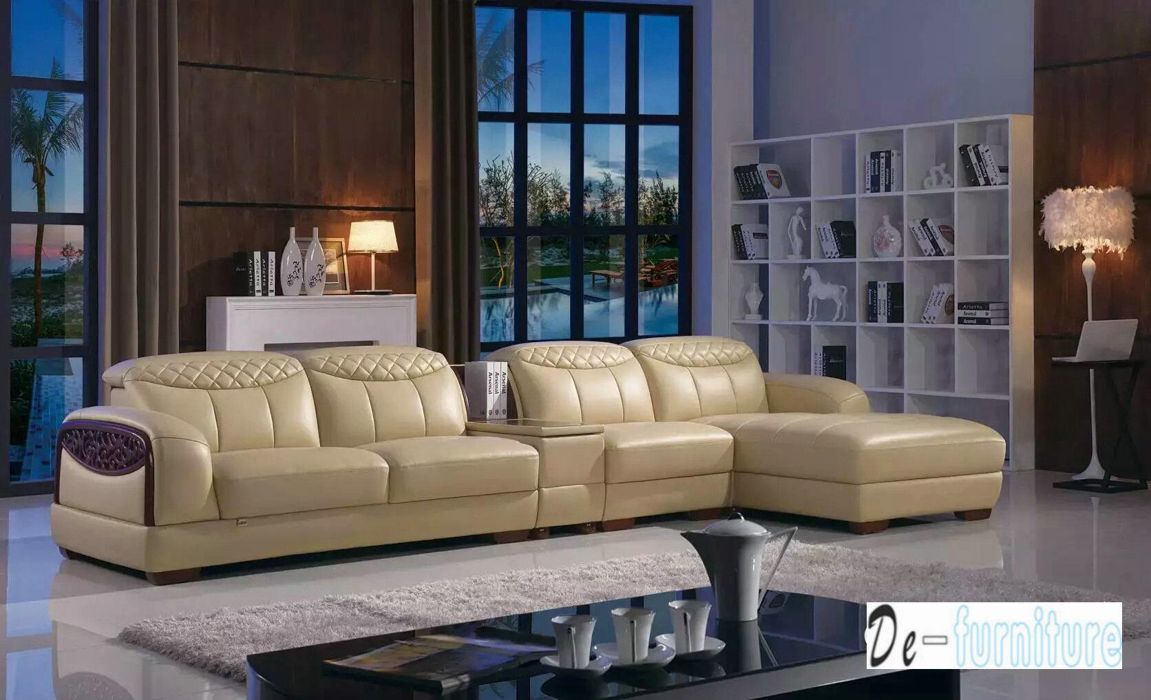 [Hot Item] Brown Color Leather Sofa, L Shape Sofa (K8006)