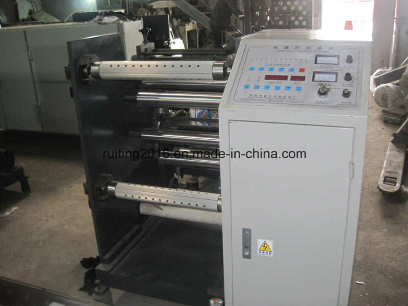 Rtfq-600/800A Wide Label Roll to Small Rolls Paper Slitting Machine