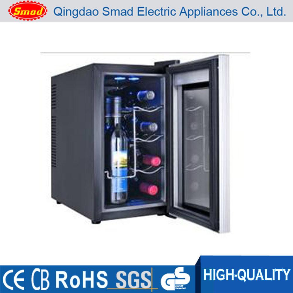 China 8 Bottles Desktop Thermoelectric Wine Cooler