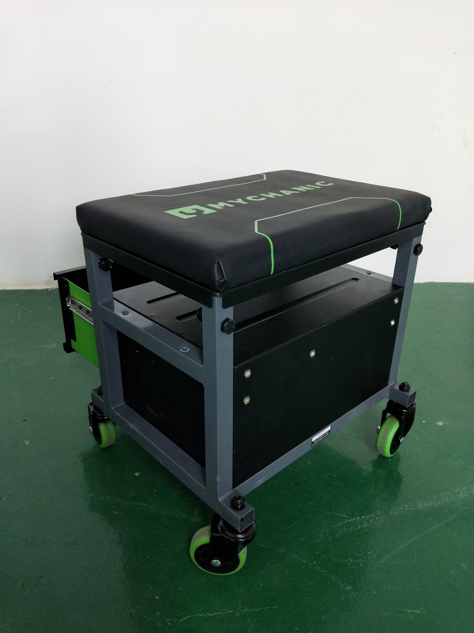 Mechanics Creeper Adjustable Rolling Creeper Seat Mechanic Stool Chair Garage