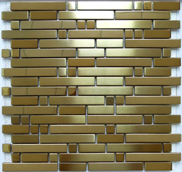 Strip Stainless Steel Metal Mosaic Tile (SM214)