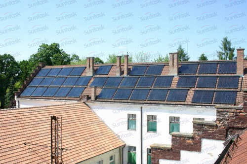 Scm Solar china project solar heating heat pipe solar collector with srcc