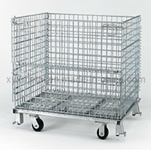 Folding Heavy Duty Collapsible Transport Roll Wire Mesh Containers