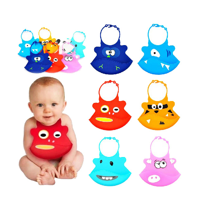 Size Adjustable Colorful Best Silicone Baby Bibs for Infants