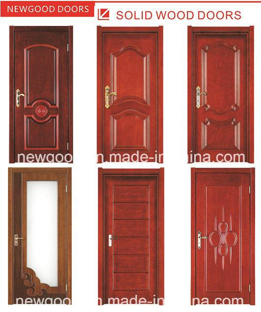 China Solid Wooden Interior Door Fire Rated Wooden Door Natural