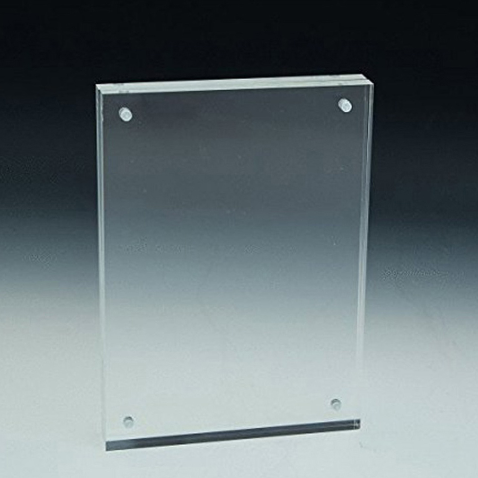 China Acrylic Photo Picture Frame Clear Factory Directly Sale Double