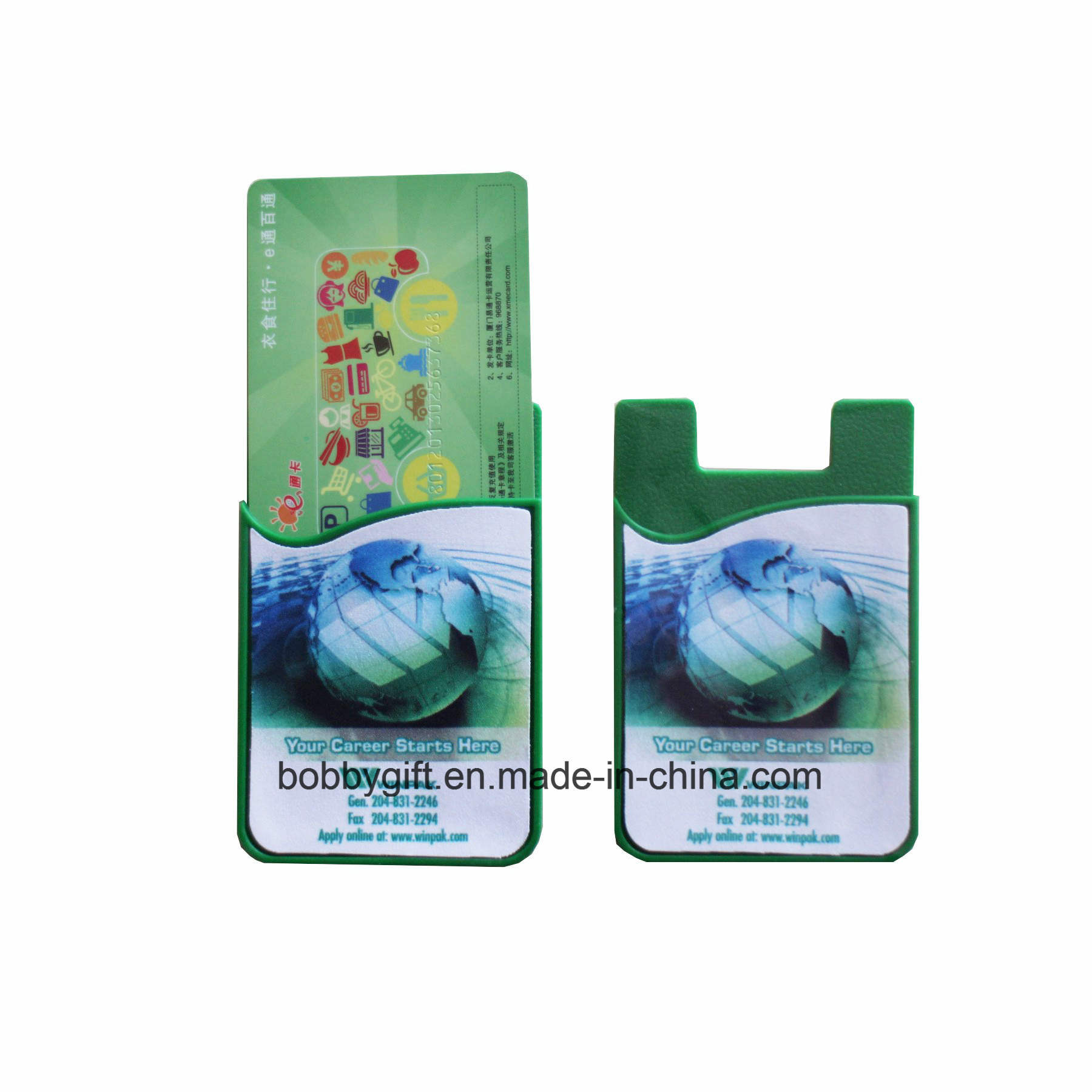Silicone Sticky ID Card Holder for Mobile Phone Accessories