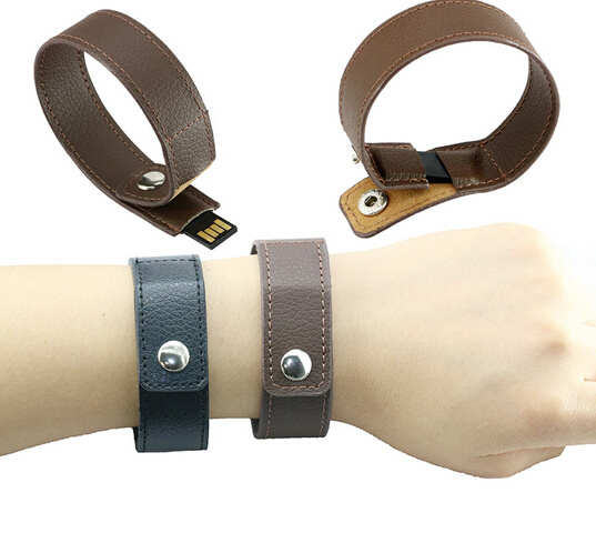 Bracelet Leather Usb Flash Drive 64gb Pen Real Capacity Memory Stick Disk 4gb 8gb 16gb 32gb
