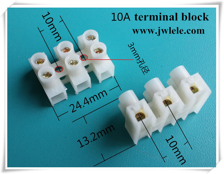 Feed Through PA 12 Way Terminal Block Strip Connector
