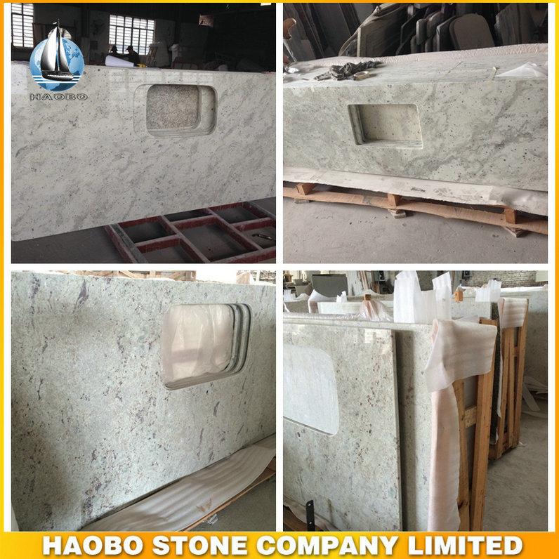 [Hot Item] Polished River White Granite Kitchen Countertop