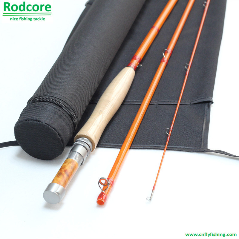 Yellow Yr764-3 Quality Made Moderate Classic Fiberglass Fly Rod