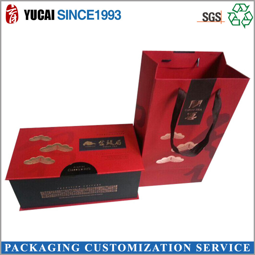 Tea Paper Box Bag Set Gift Packaging in High Quality
