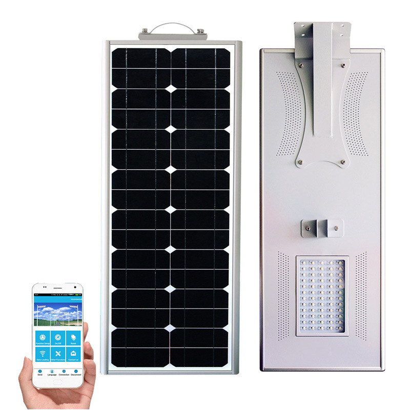 Outdoor All In One Led Solar Street Light With Remote Control Outside Lights