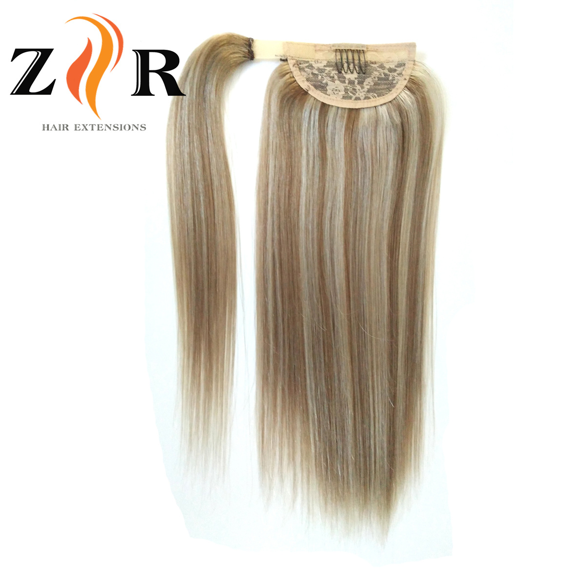 China Wholesale Piano Colour Indian Human Hair Extensions Ponytail