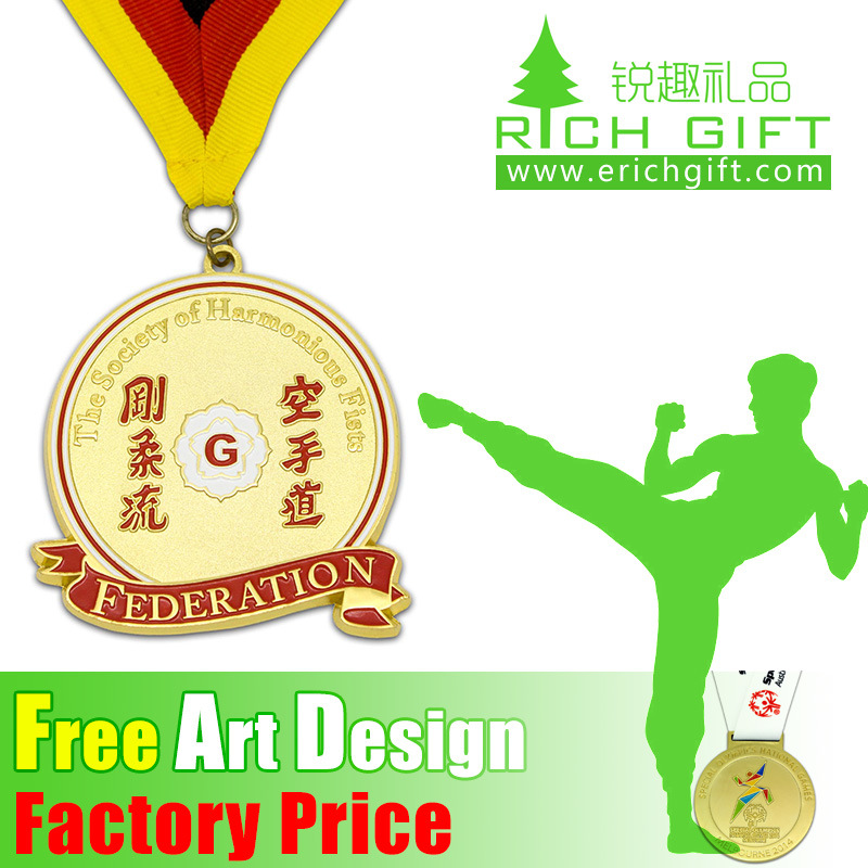 Professional Gold/Silver/Bronze Cheap Custom Martial Arts Medal pictures & photos