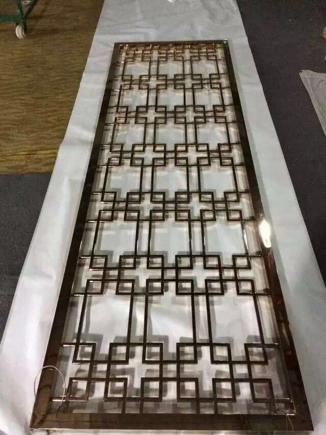 China Stainless Steel Metal Laser Cut Sheet For Wall Panel And Room Divider Partition