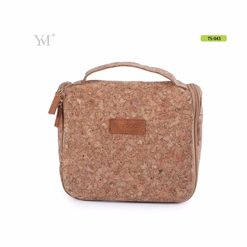 45193cdd8cd8 Wholesale Large Capacity portable Handle Eco-Friendly Cork Cosmetic Bag