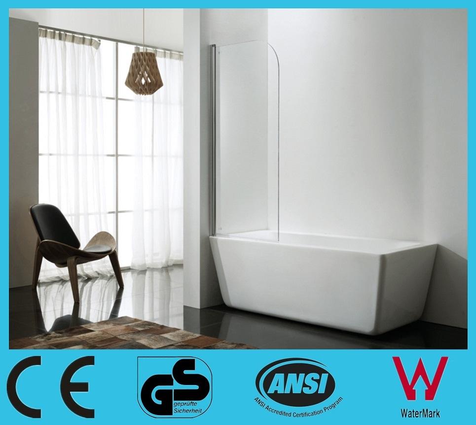 China 6mm Tempered Glass Bathtub Shower Screen Single Panel Bathtub