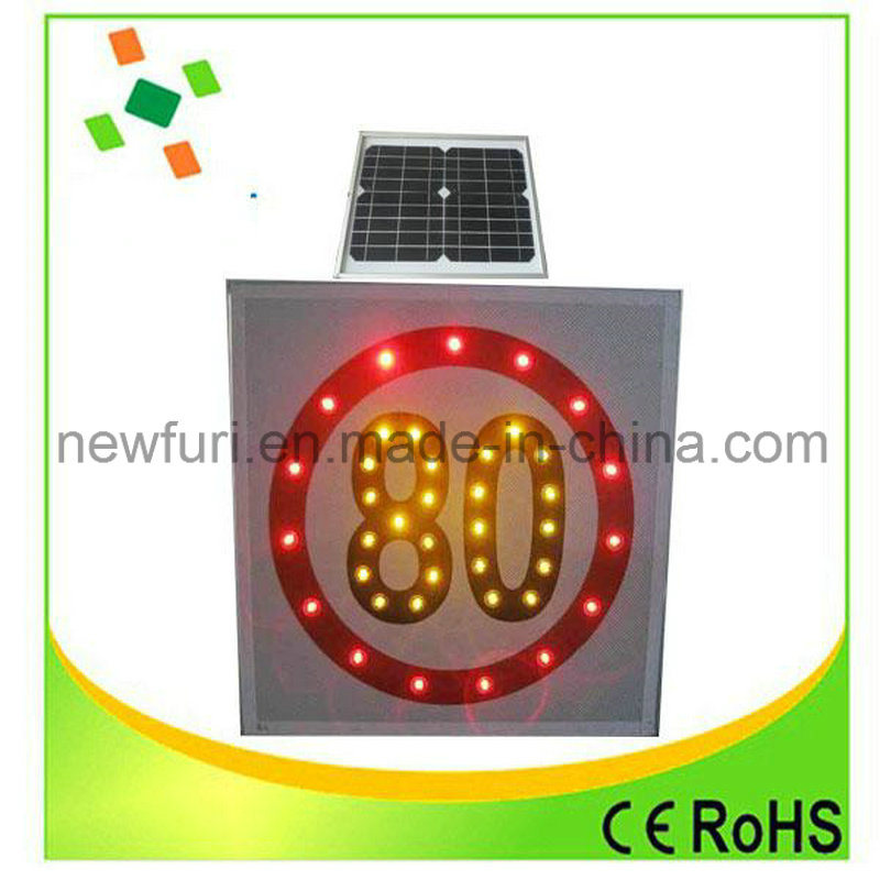 Solar LED Speed-Limit Traffic Sign