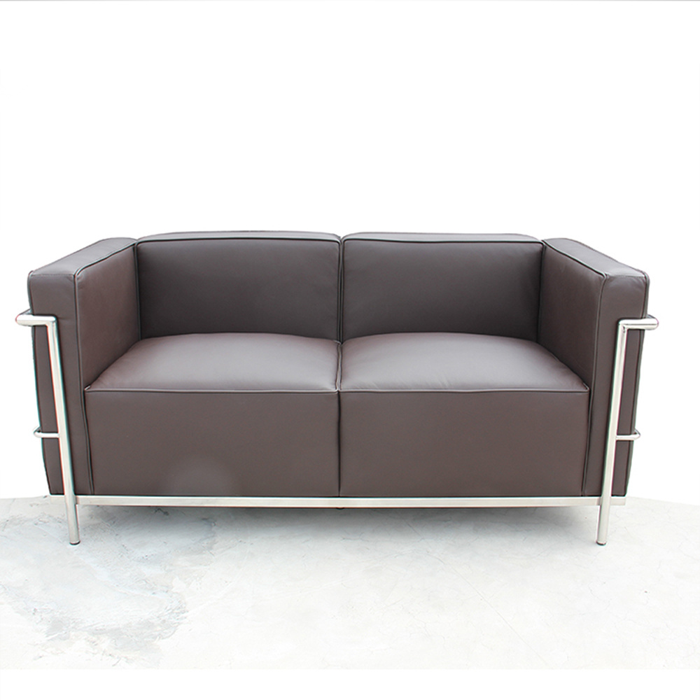 [Hot Item] Double Couch Living Room Seater Sofa 2 Seater Brown Modern  Office Leather Sofa