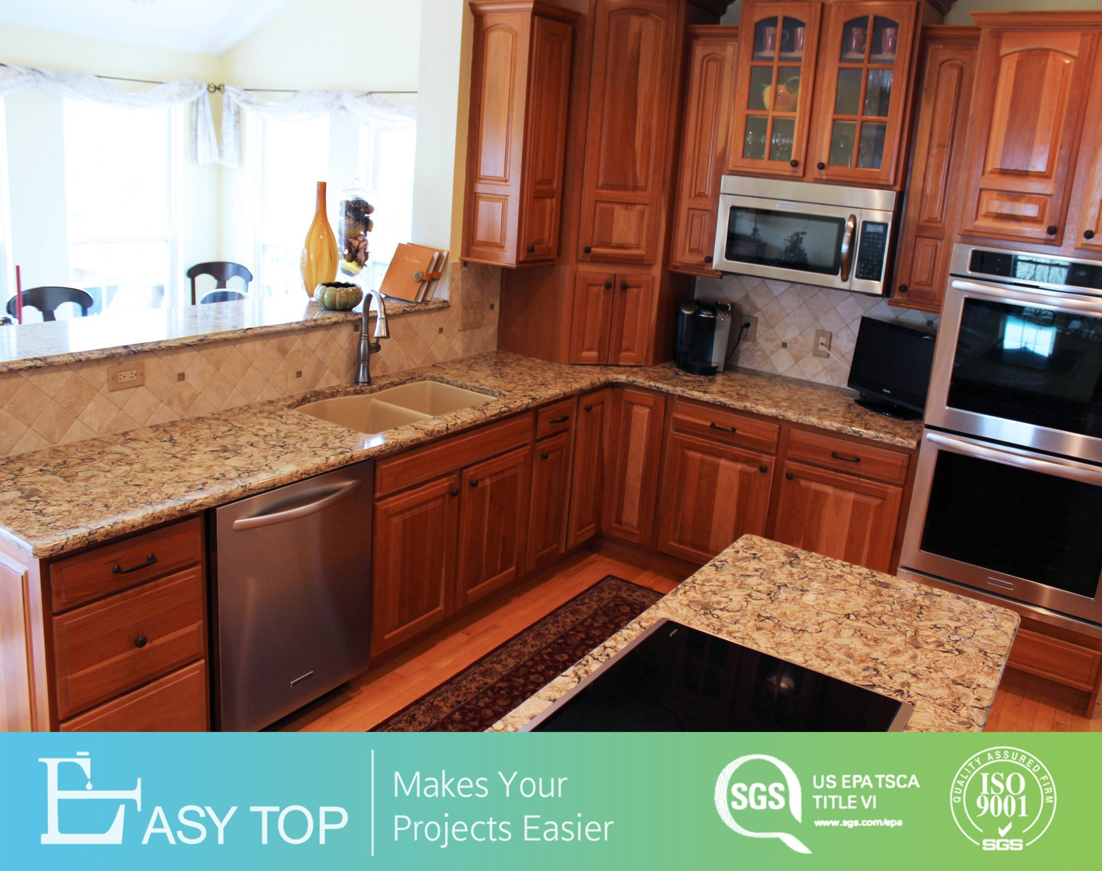 Kitchen Cabinets Red Cherry Solid Wood