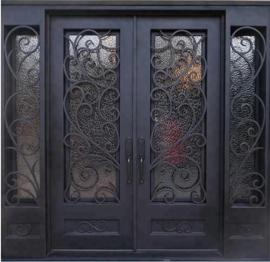 China Luxury House Design Wrought Iron
