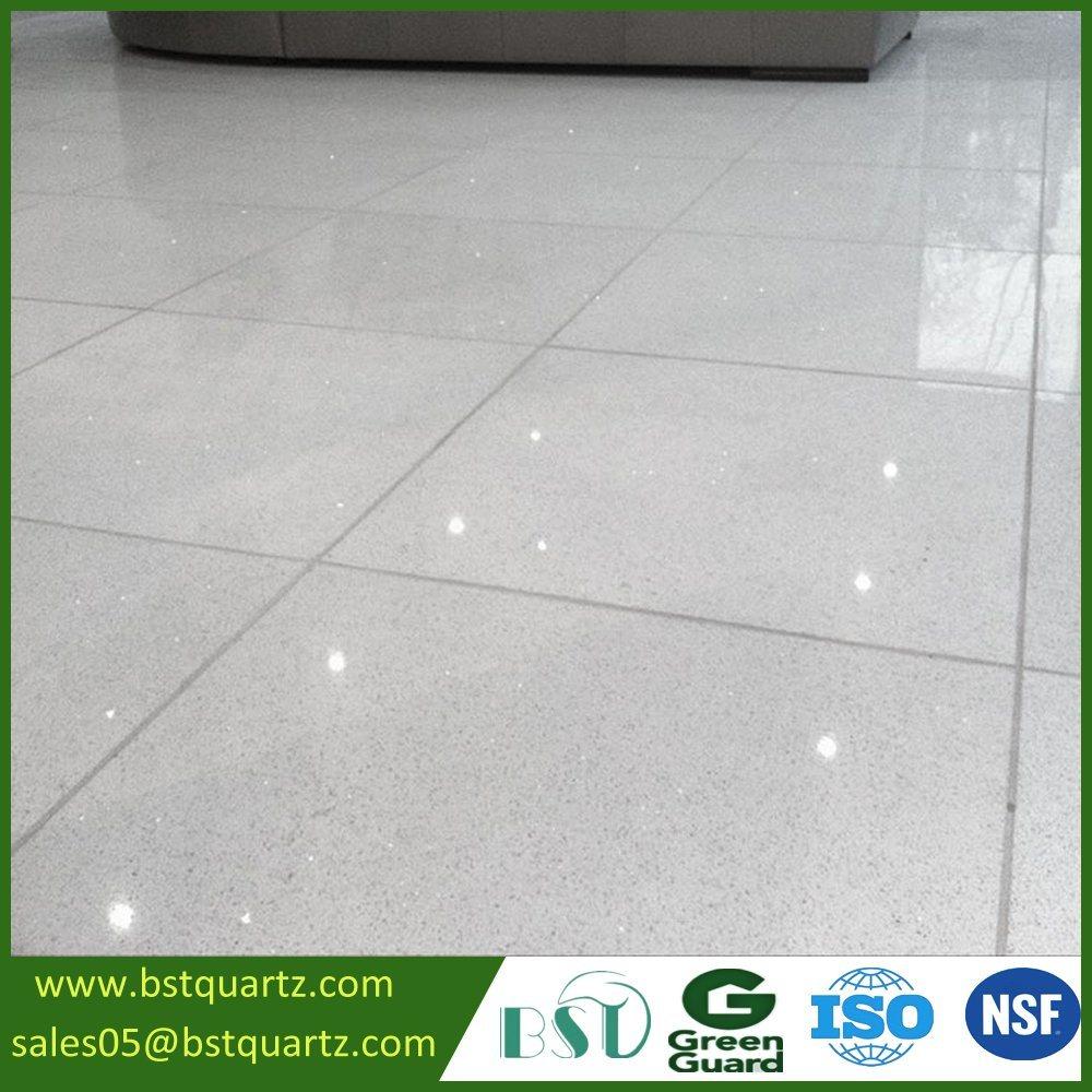 China Interior Tile Sparkle White Quartz Stone For Floor China