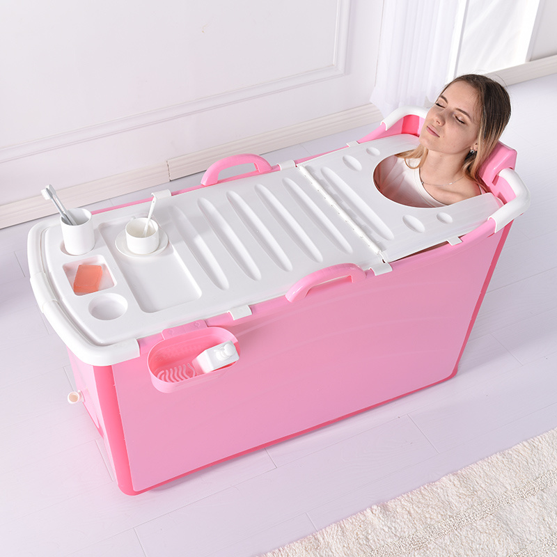 China Portable Plastic Bathtub for Adults Folding SPA Bathtub ...