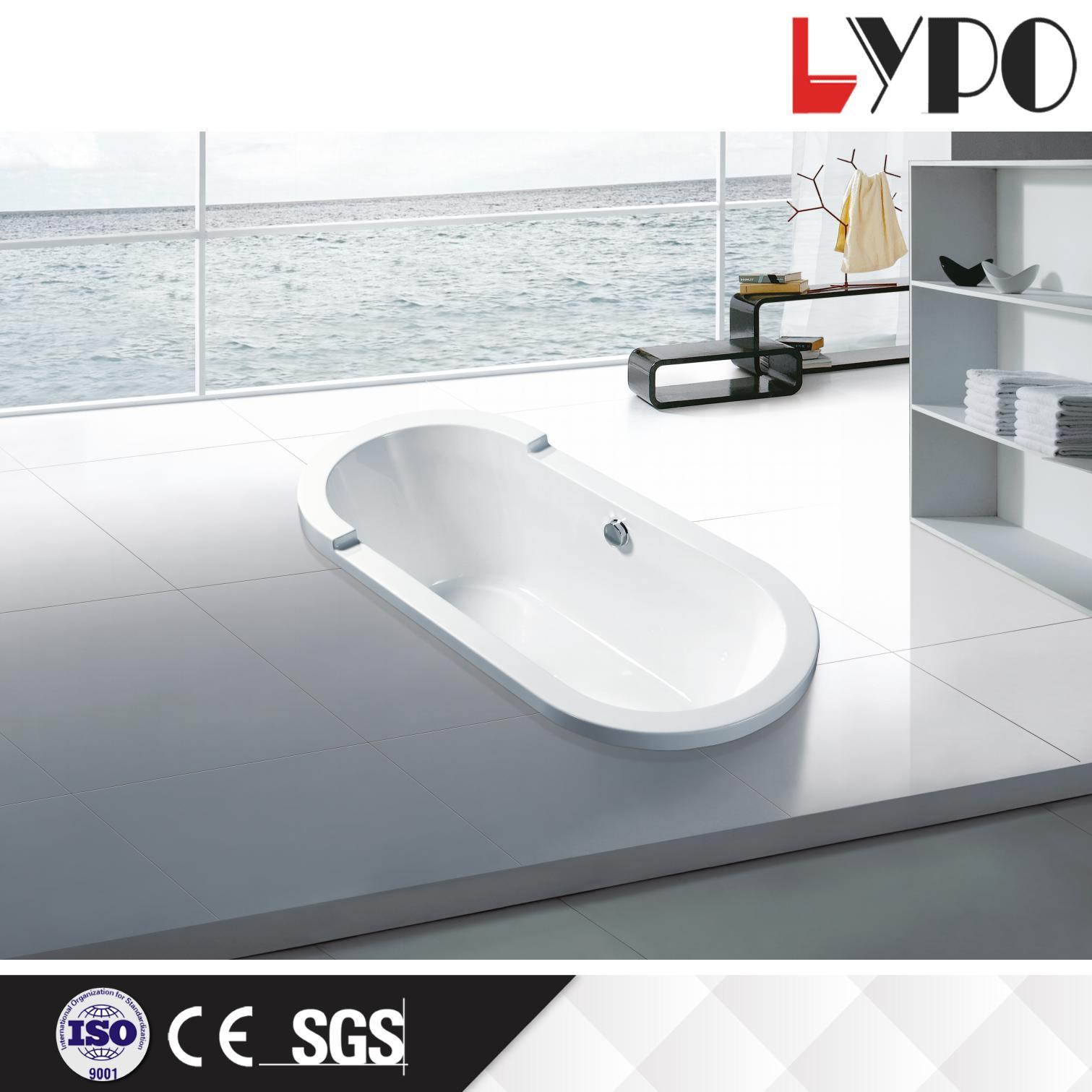 China K-1302 New Affordable Simple Acrylic Square Bathtub, Hot Tubs ...