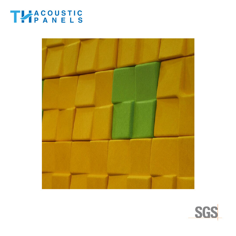 China Eco Friendly Building Materials Decorative 3D Acoustic Wall ...