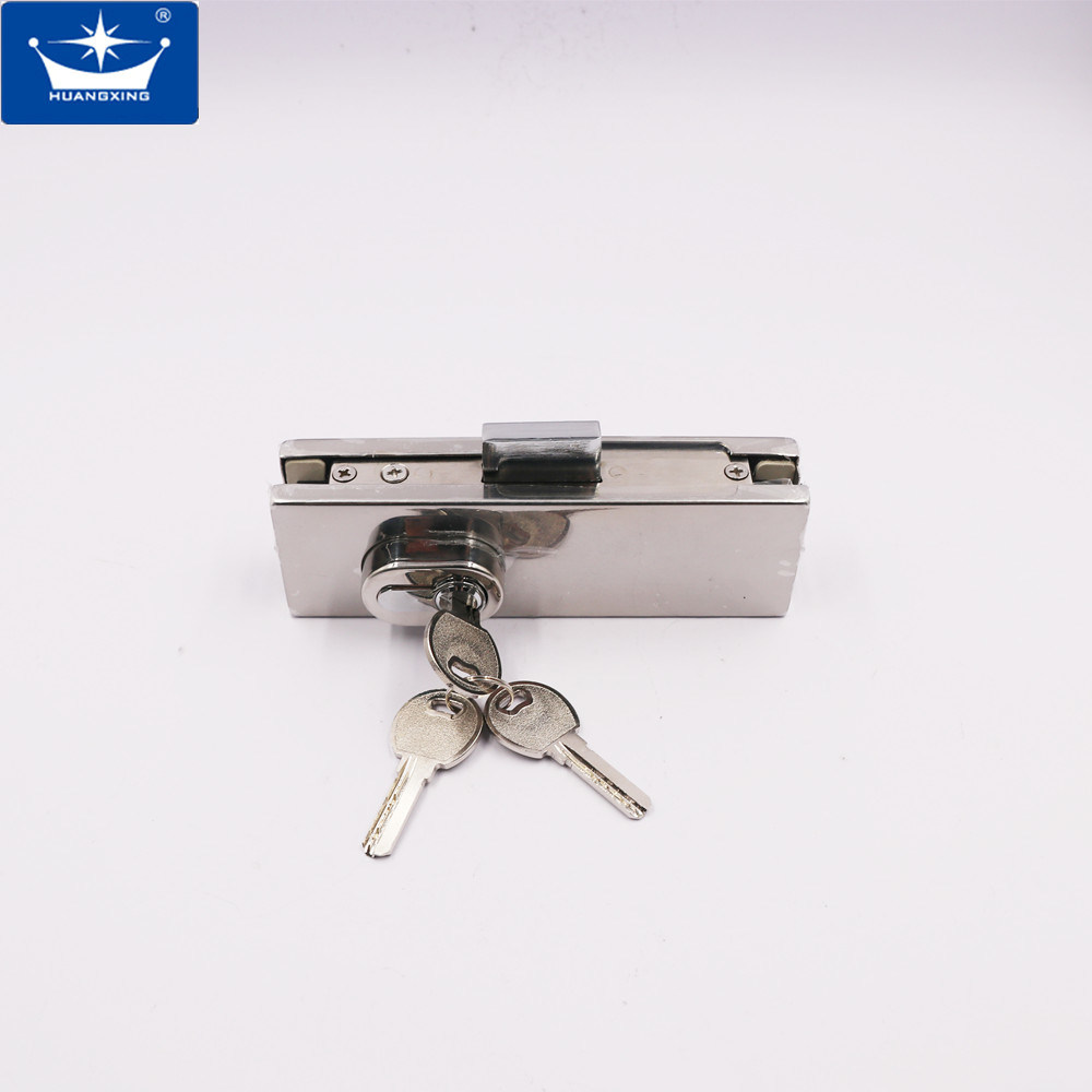 China Stainless Steel Glass Door Floor Lock Bottom Patch Fitting