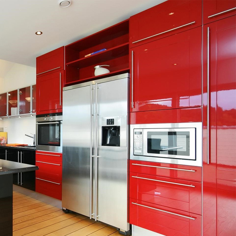 [Hot Item] Foshan Wholesale Modern Modular Red Kitchen Cabinet