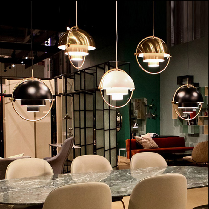 [Hot Item] Modern Dining Room Hanging Light with Adjustable Metal Shade in  Black, Brass, Gold