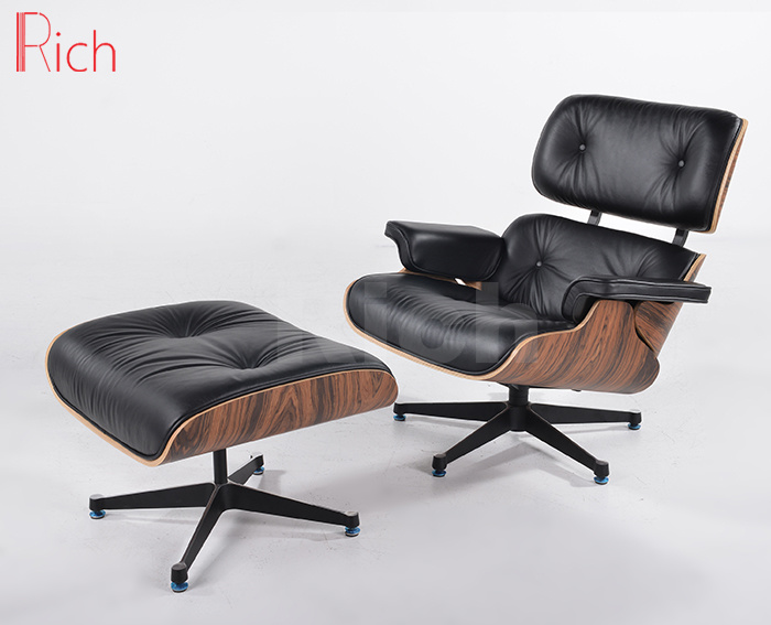 China Modern Designer Furniture Replica Leather Walnut Charles