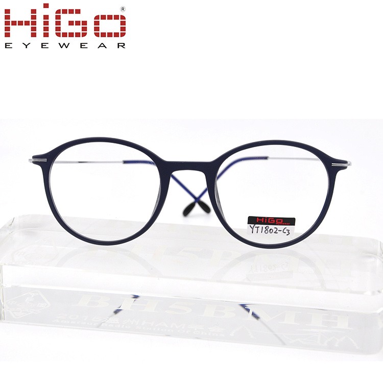China Titanium Temple Without Nose Pad Prescription Glasses Round ...