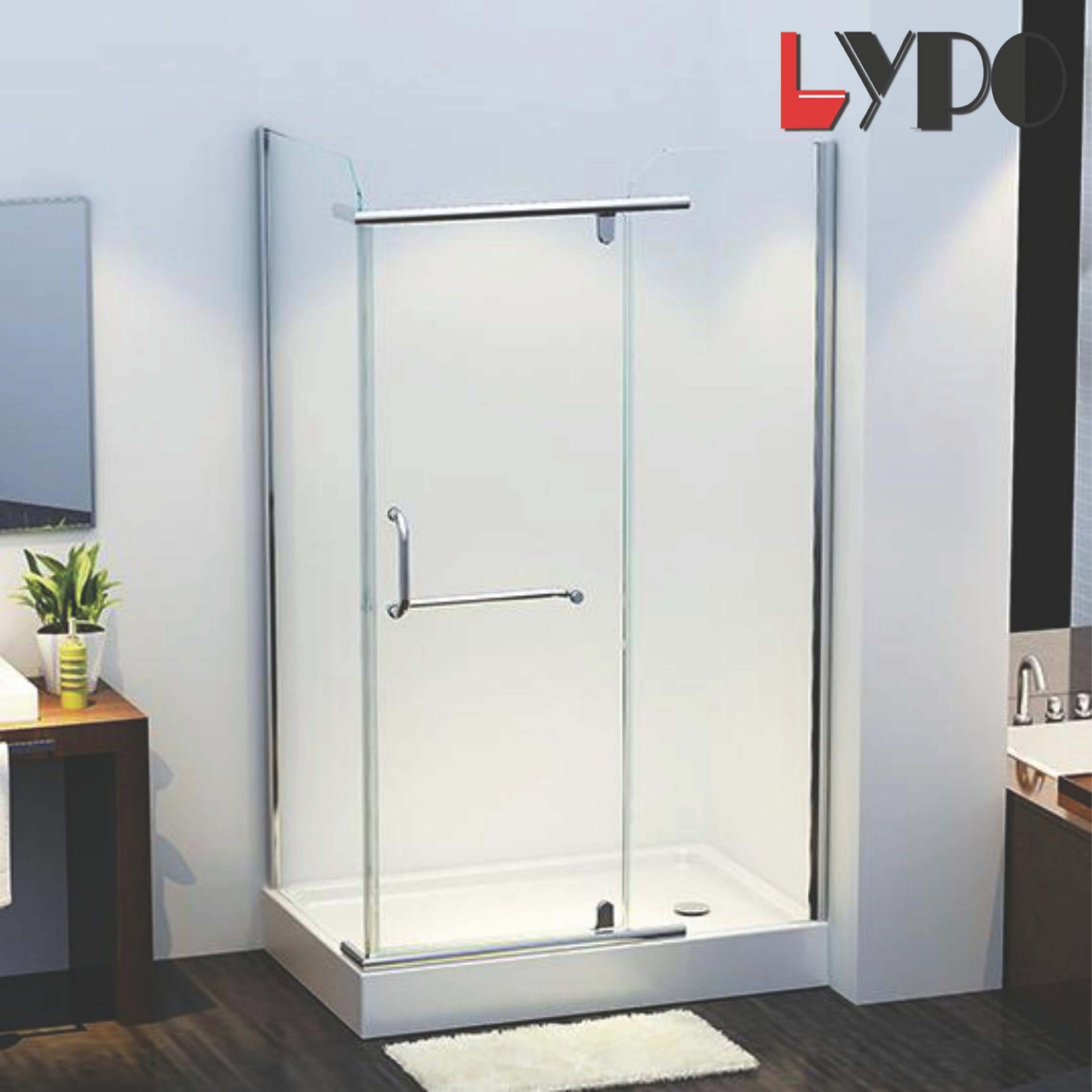 China Simple Economic Tempered Glass Shower Room Enclosure Sanitary Ware