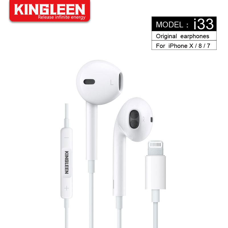 China Model I33 Original iPhone Headset for Lightning