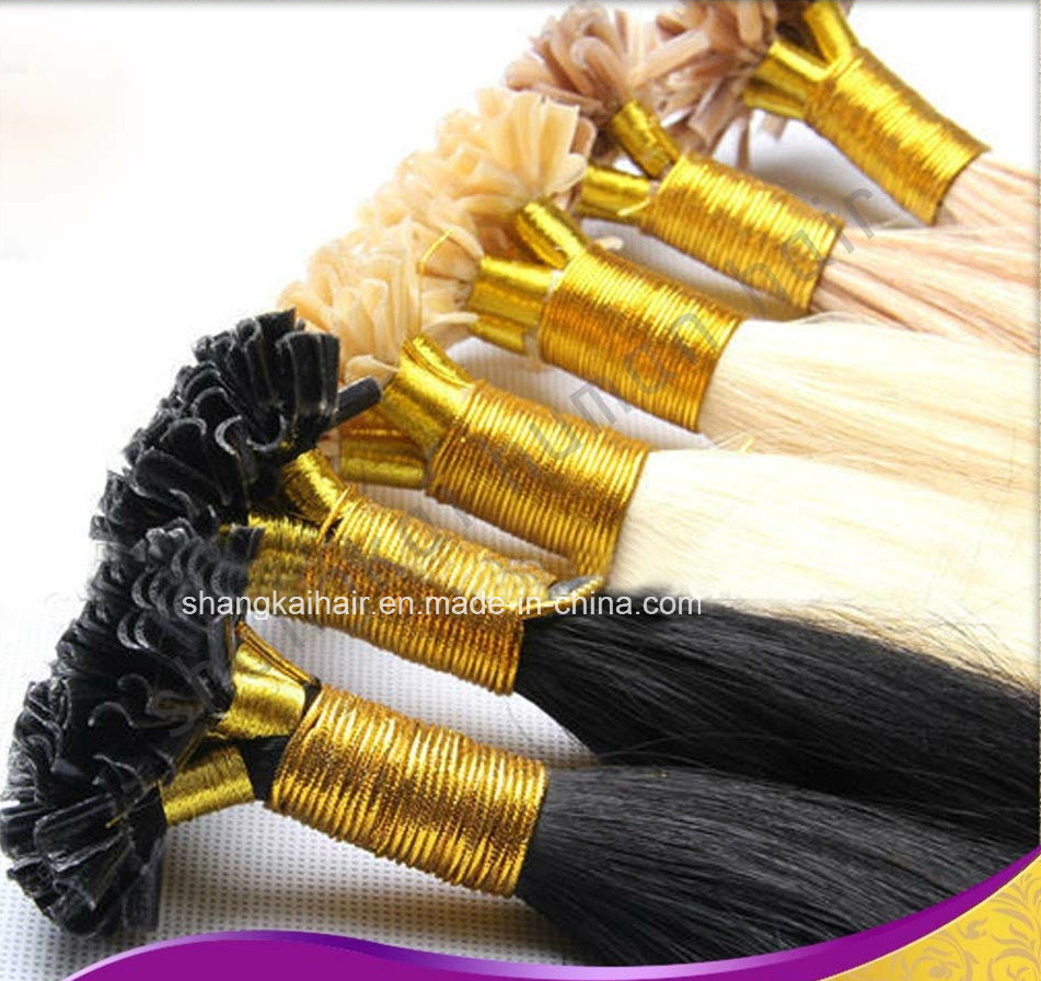China Wholesale 100 Human Hair Prebonded Hair Extensions U Tipi