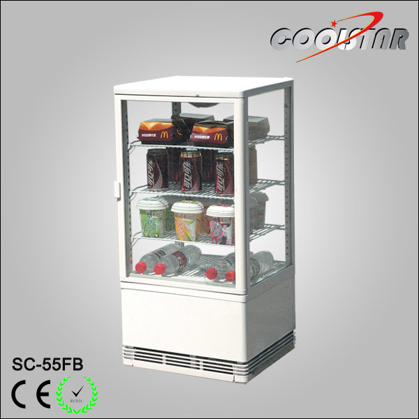 China Countertop Four Glass Door Soft Drink Display Refrigerating Showcase Sc 55fb Cooler Refrigerator