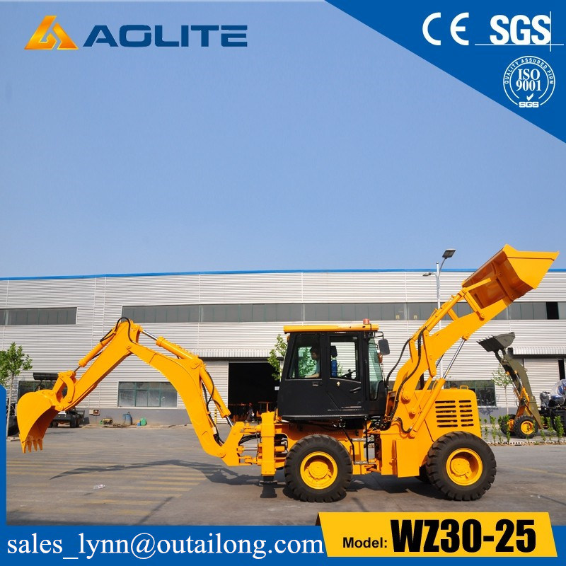 2.5ton Factory Backhoe Loader Tractor Wheel Backhoe Loader Wz30-25 pictures & photos