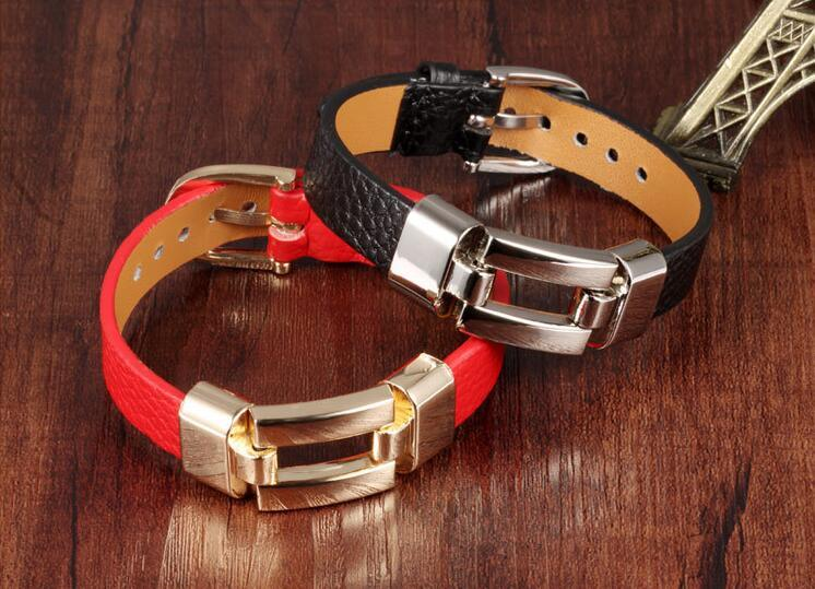 China New Fashion Red Black Unisex Lovers Cool Mens Bracelets